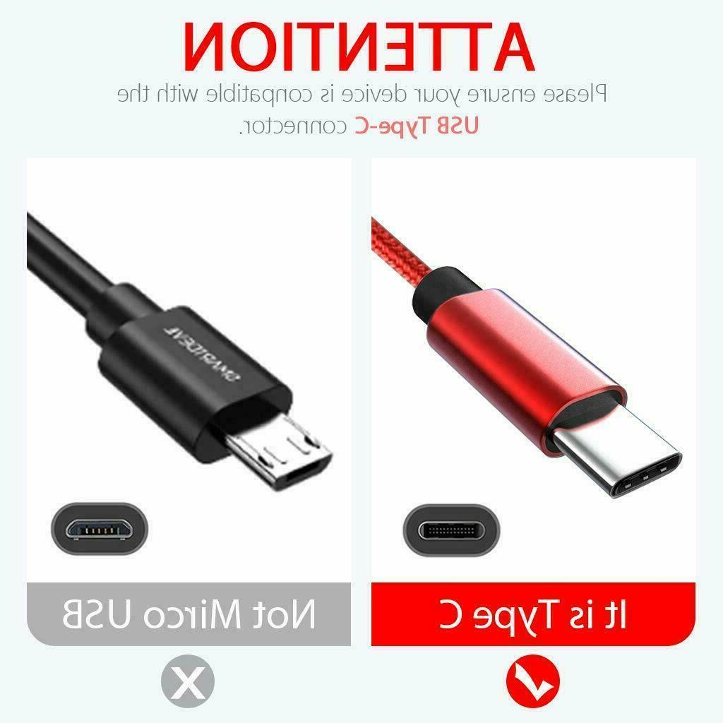 Fast Charger Type C Cable For Samsung S10 S8 3/6/10FT USB-C
