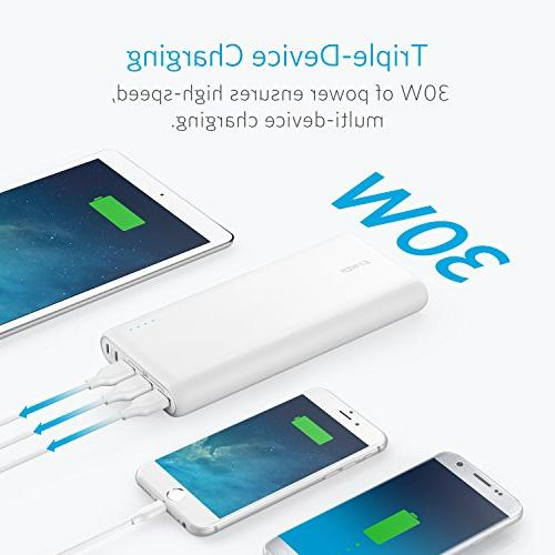 Anker PowerCore Portable Charger, with Dual Port and USB Ports iPad, Samsung Galaxy, Android and