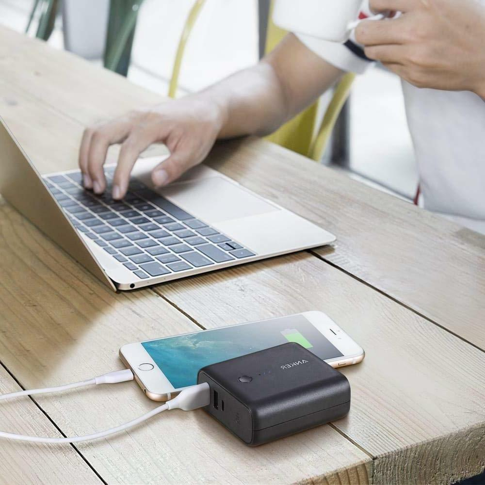 Anker CHARGER & 5000 mAh PORTABLE BATTERY 2-USB