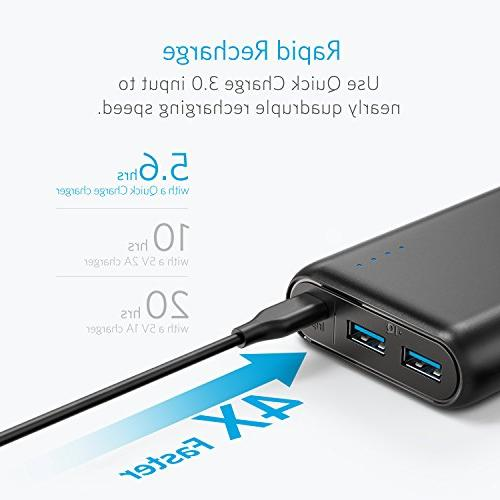 Anker PowerCore Speed 20000, 20000mAh 3.0 & PowerIQ Charger, with Quick Recharging, Bank for Samsung, More