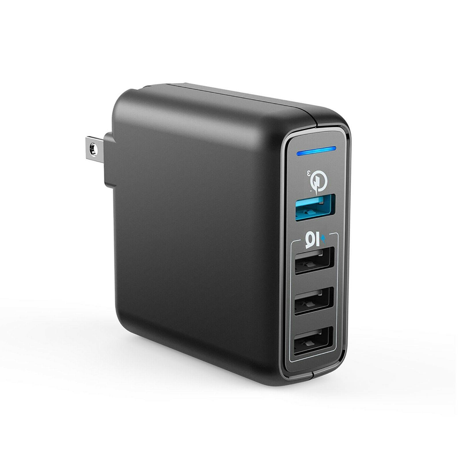 powerport speed 4 wall charger black brand