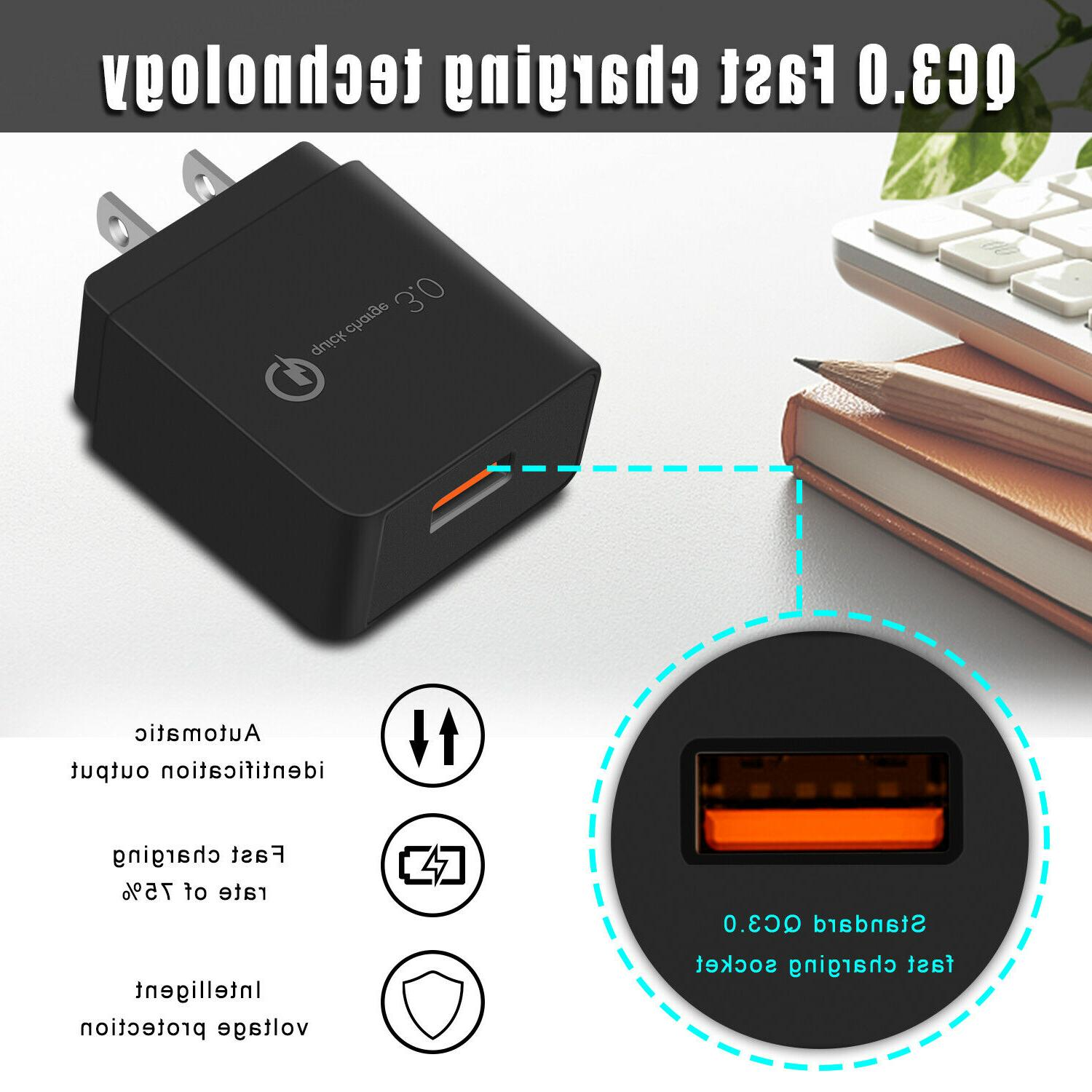 18W Fast QC Charger US Plug For