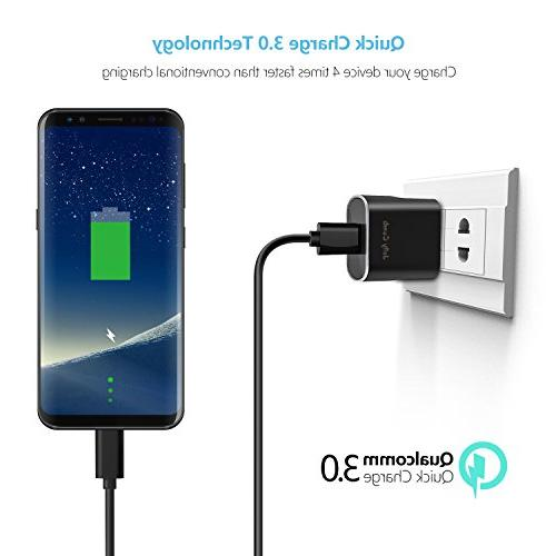 Quick 3.0 Charger Kit for Galaxy / Comb USB Car Charger + + Type C for Galaxy S8 S9