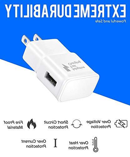 Galaxy Adaptive Wall Charger Set Micro-USB Cable, Galaxy Charger Fast USB Cable by with