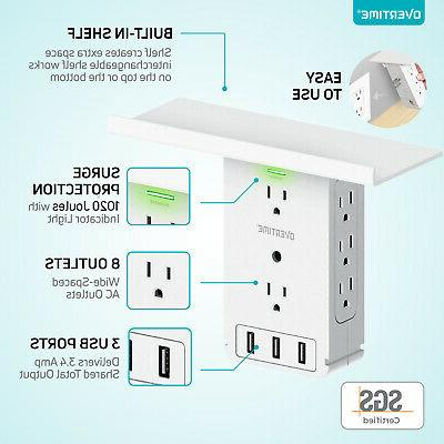 Socket - Wall Charger 8 AC 3 Ports