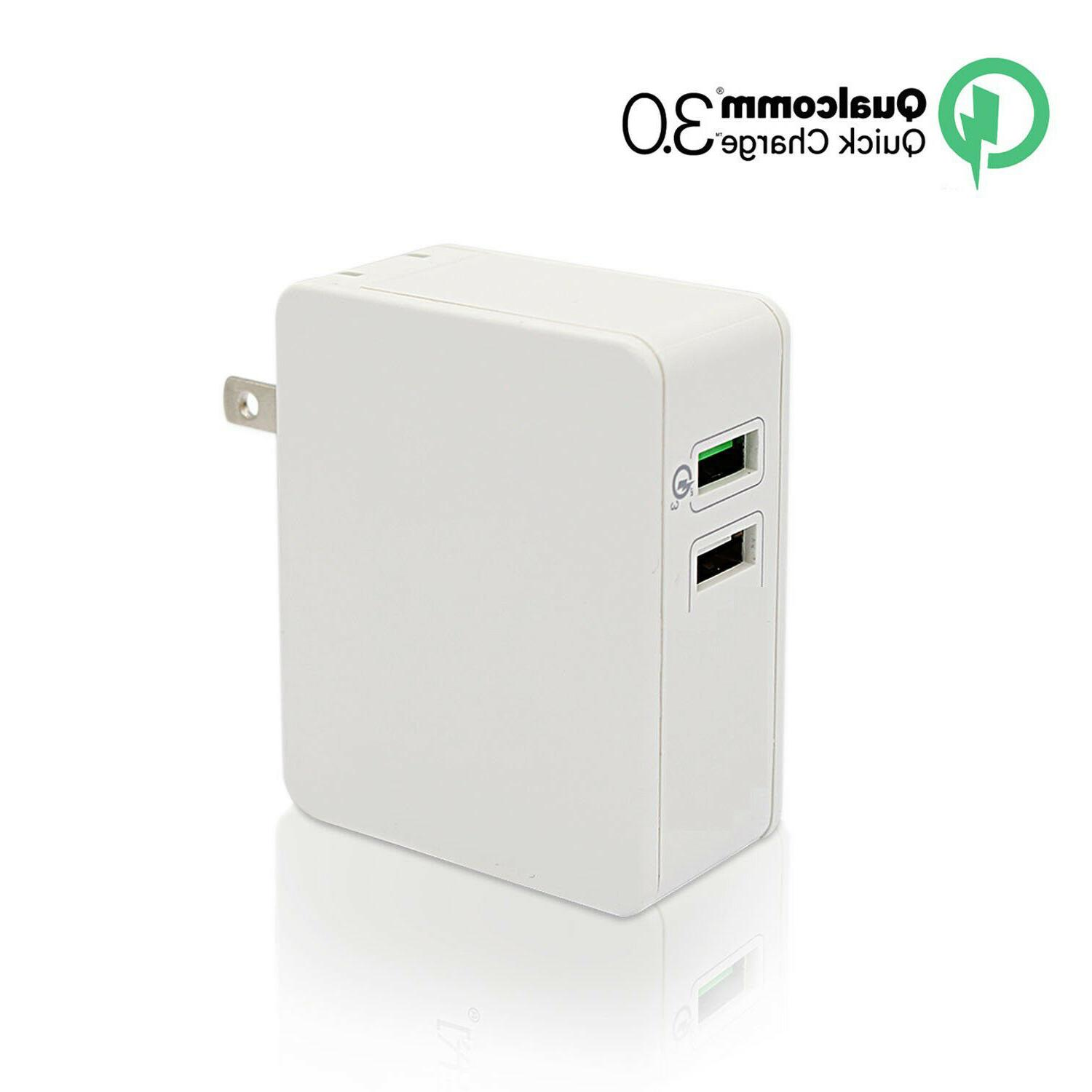 Turbo Port Quick Charge Fast Rapid Wall Qualcomm Certified