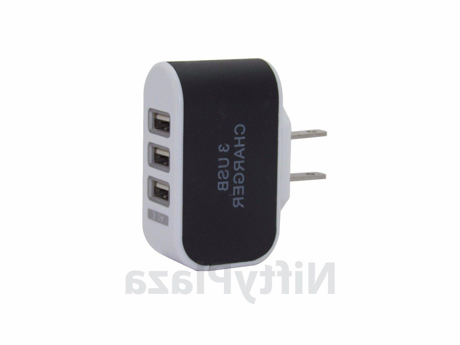 Universal 3.1A Triple USB 3 Port Wall Home Travel AC Charger