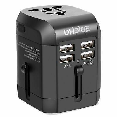 Universal USB Travel Power Adapter-EPICKA All in One Wall Ch