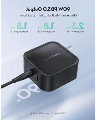 USB Charger 90W 2-Port Charger Type C