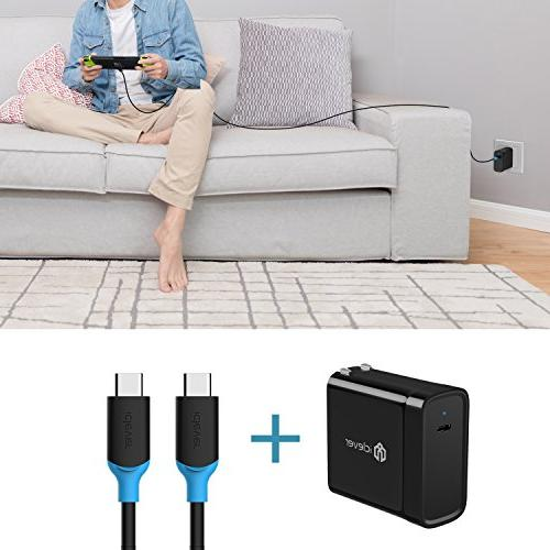 Charger USB C Power Adapter Foldable Switch, Pro, MacBook 2015/2016, 8, C, 5X/6P and