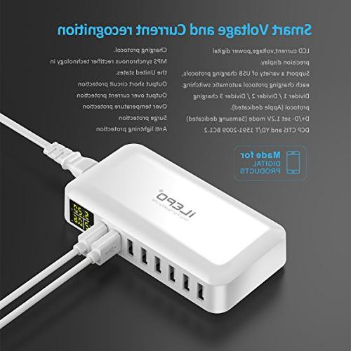 iLepo USB Charger Multi with MAX 8A Station iPhone Samsung HTC And More