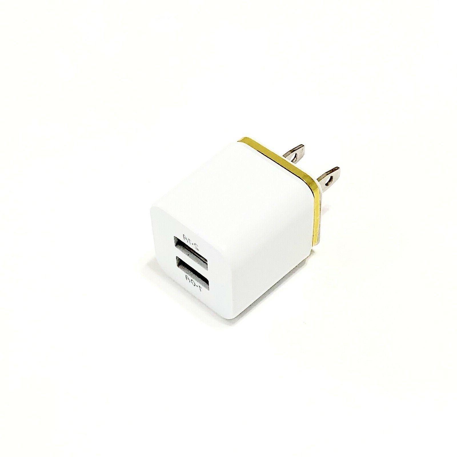USB Double Wall Charger Adapter 5V For iPhone/ Android /Galaxy / LG.