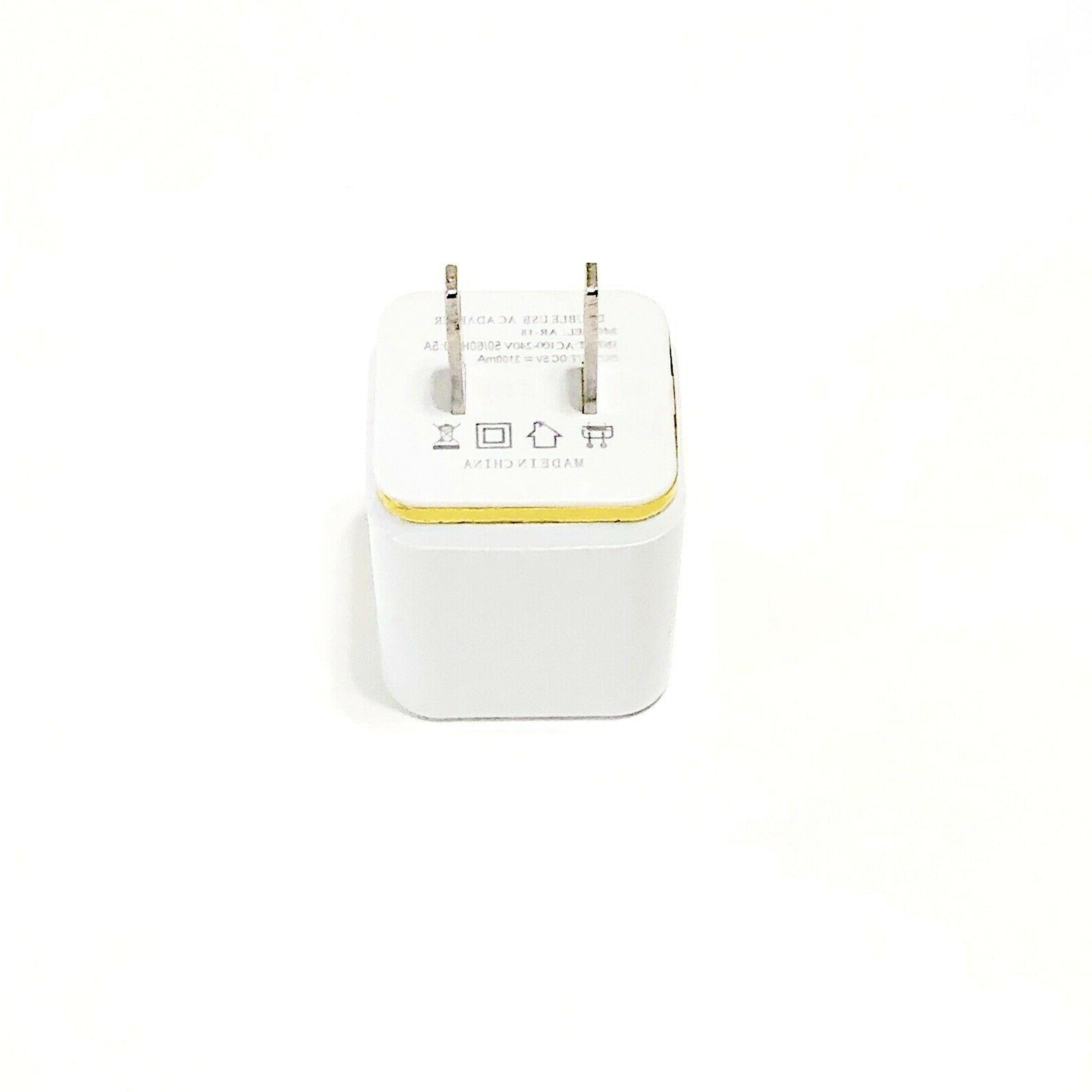 USB Double Wall Charger Adapter 1A 5V iPhone/ /Galaxy / LG.
