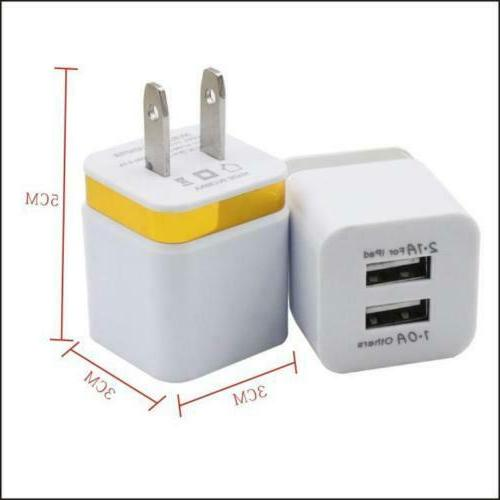 USB Double Wall Charger 1A 2A 5V For / Galaxy New