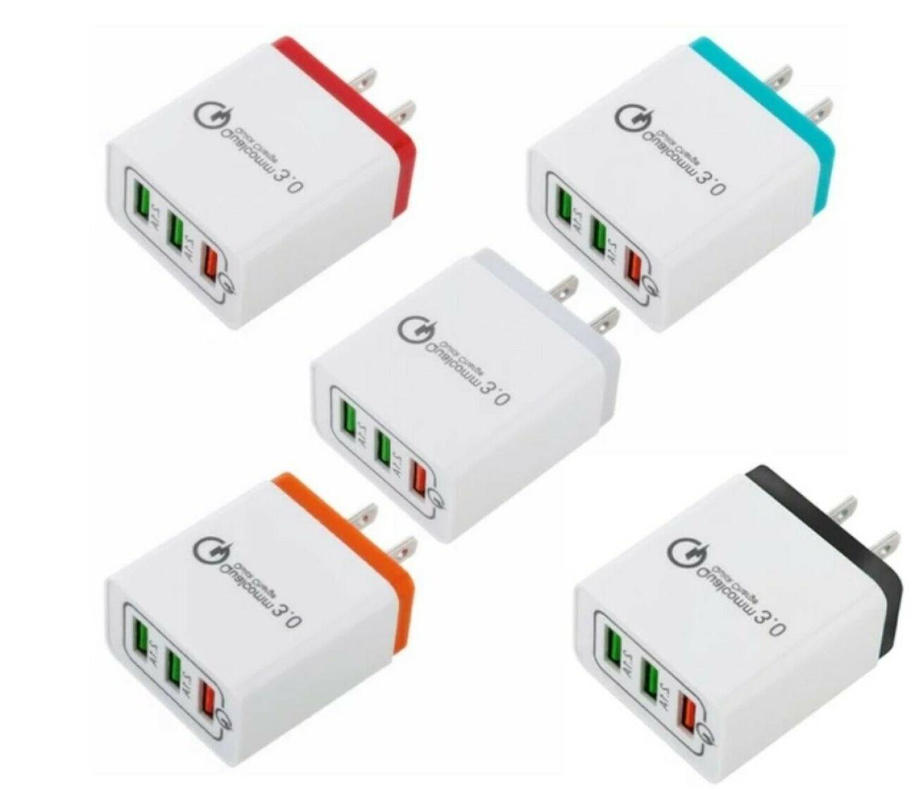 3 Port Charger Home AC Charger for Samsung Android