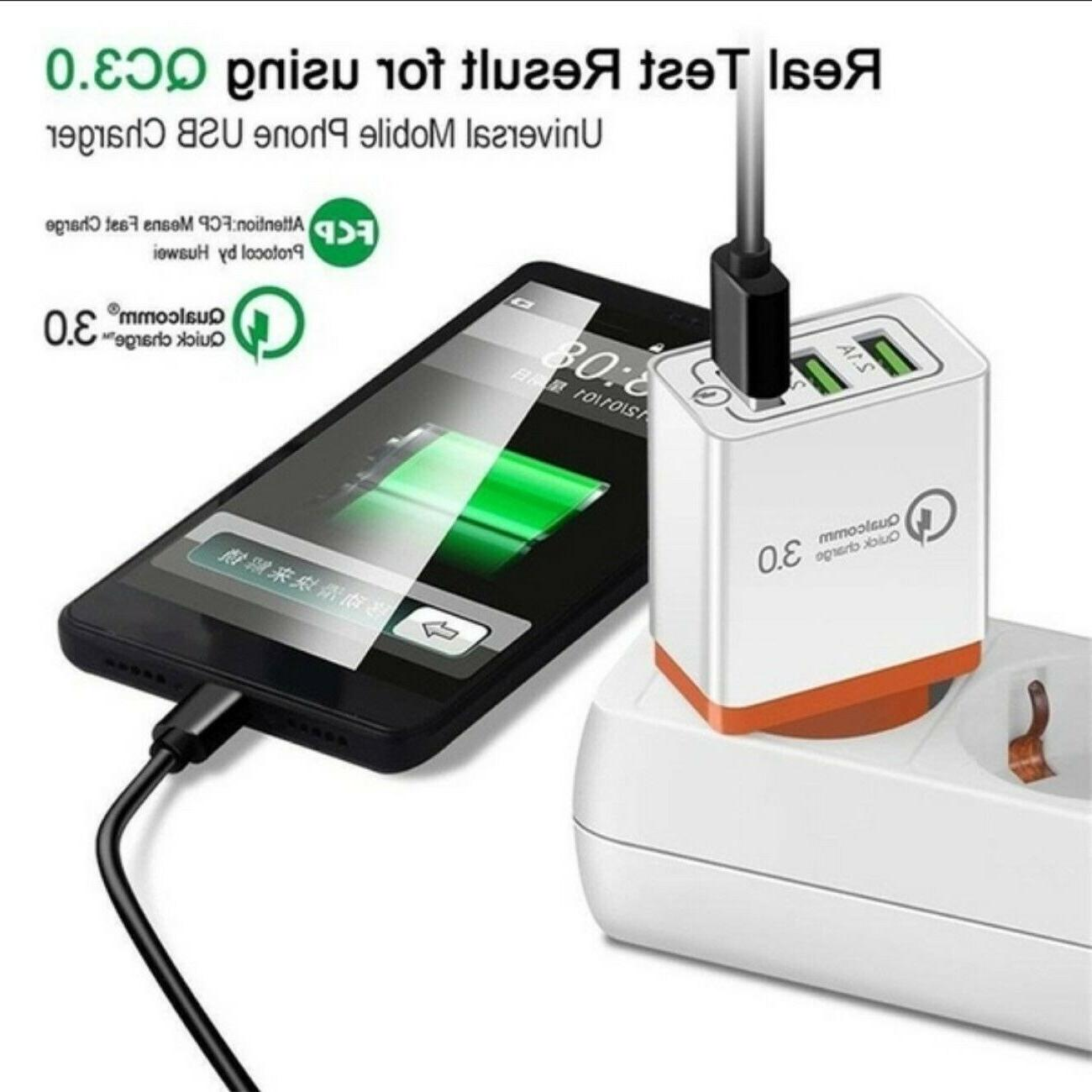 3 FAST Charger Wall Home AC for Samsung Android