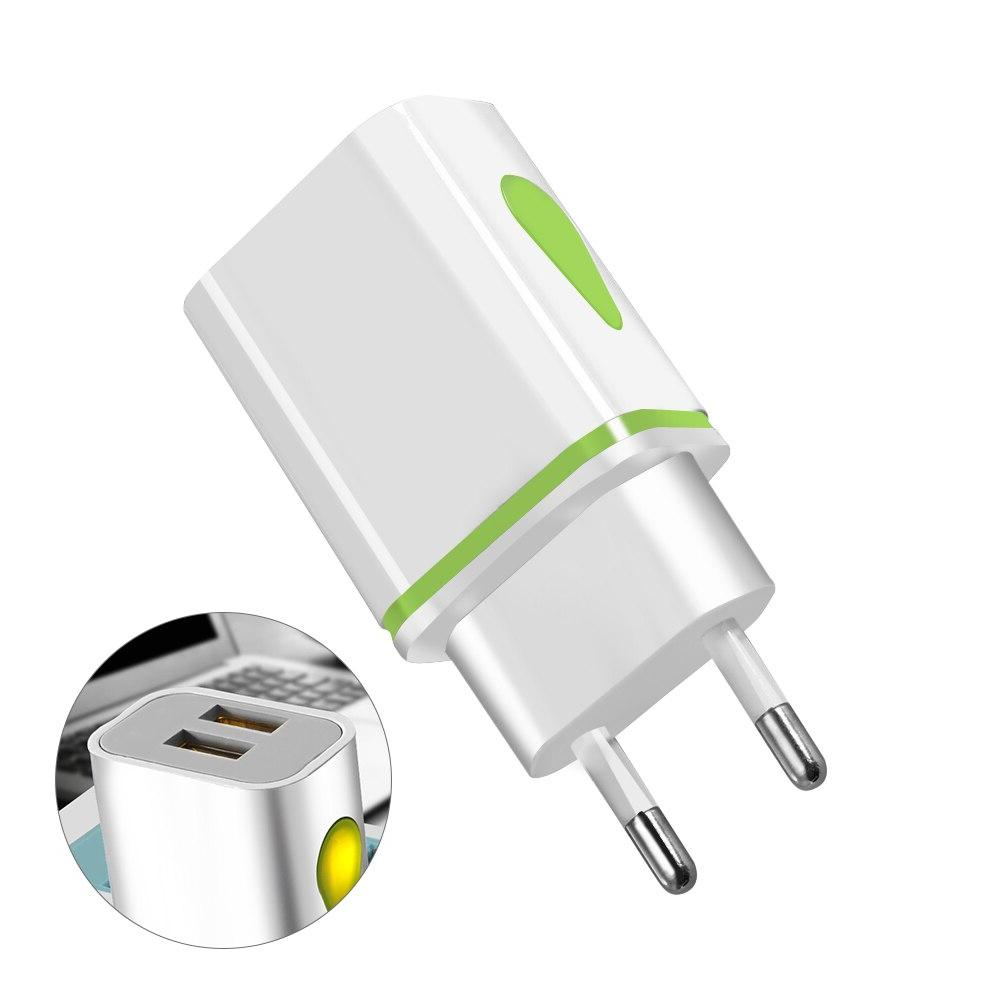 USB Dual <font><b>port</b></font> EU 5V 2A Travel <font><b>Wall</b></font> Light Phone <font><b>charger</b></font> 6 7 LG