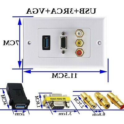 USB Wall Plate HDMI Wall Outlet
