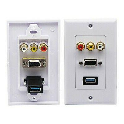 USB Wall Plate HDMI Wall Outlet Panel