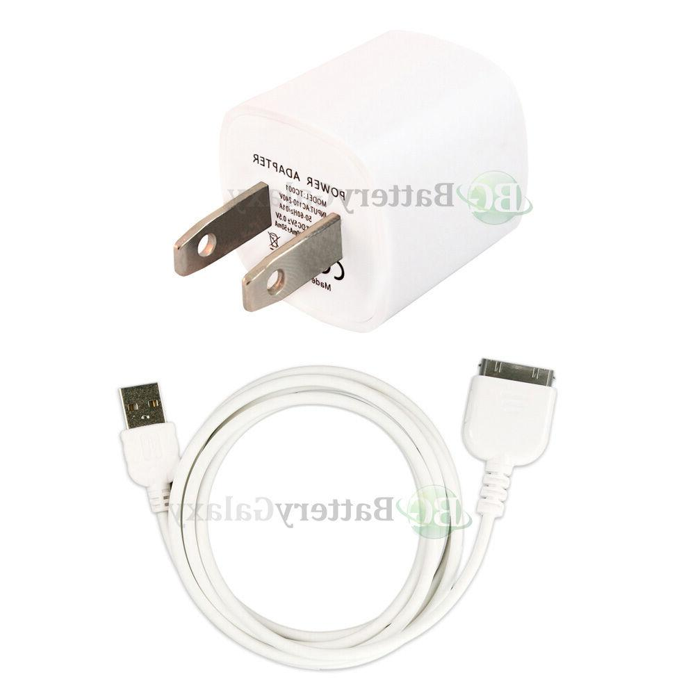USB Home Wall Charger+Cable Data Sync Cord for Apple iPhone