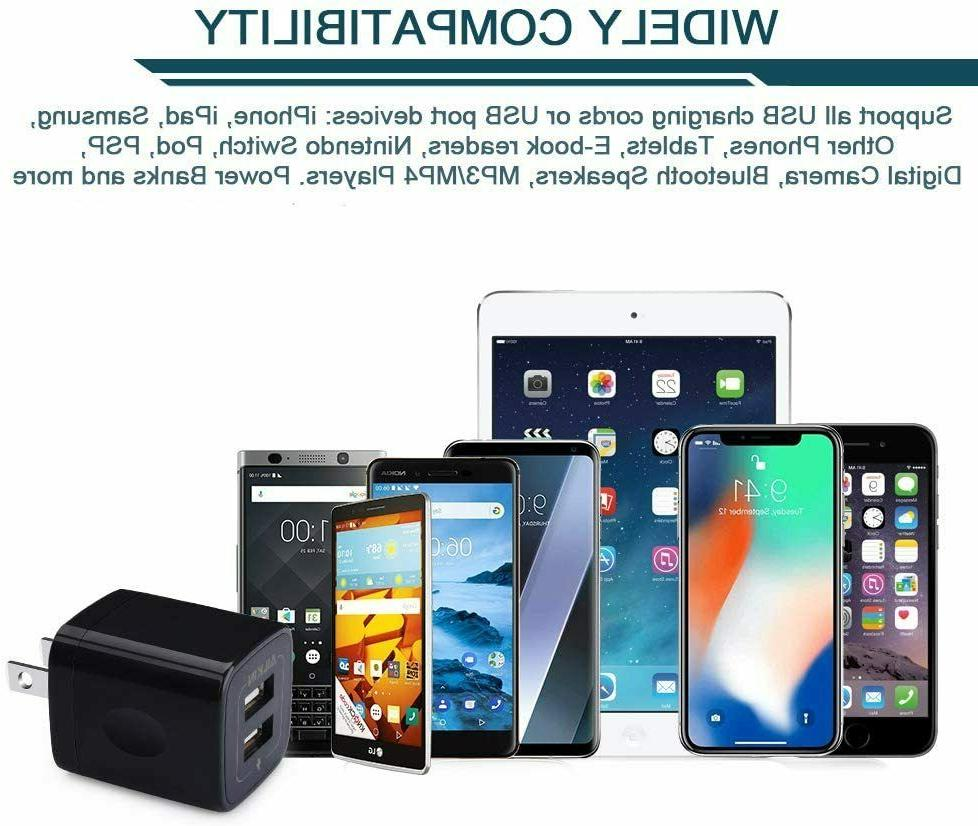 Ailkin USB MultiPort Charging Block, Plug Home Charger Cube