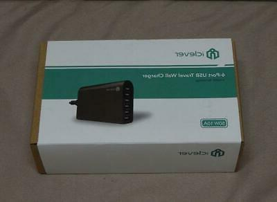 usb travel wall charger 60w 6 port