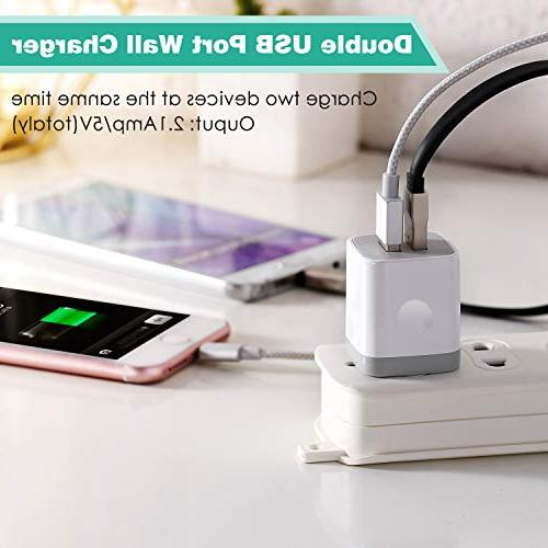 USB Wall BEST4ONE 3-Pack Dual Port USB Plug Charging Compatible Android Phone
