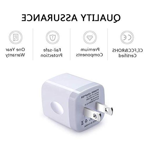 USB Wall Charger, Charger Adapter, 2-Pack 2.1Amp Dual Quick Charger Plug iPhone Samsung Galaxy S7/S6/S5 Edge, LG, HTC, Moto, Kindle