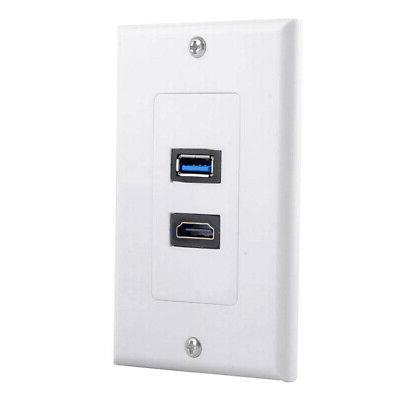 USB Wall HDMI Audio Wall Socket