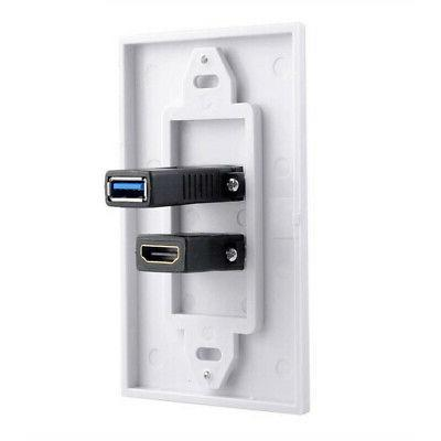 usb wall charger plate hdmi component audio
