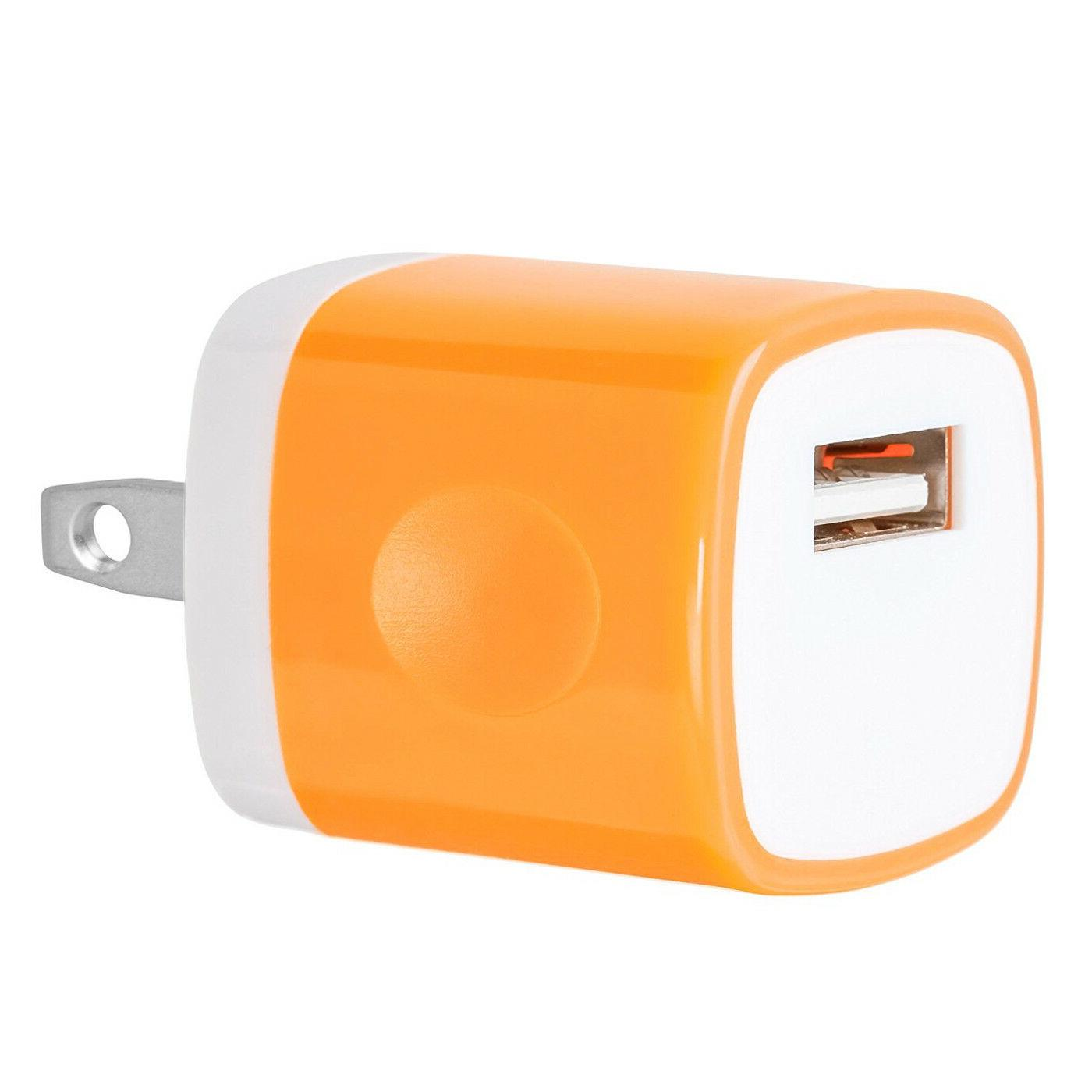 USB Charger AC Home Plug For iPhone 7 8 Samsung LG