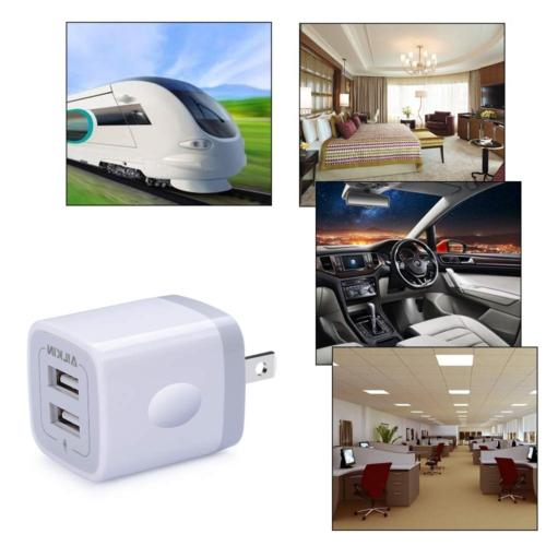 Wall Charger, 5V/2.1AMP 2-Port USB Home Travel