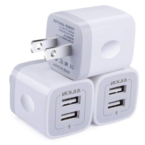 wall charger 3 pack 5v 2 1amp