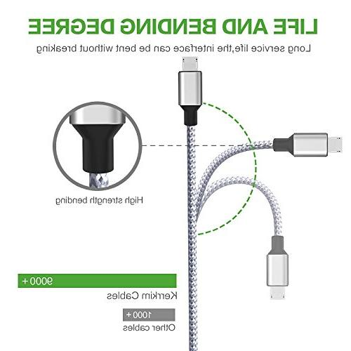 Wall Dual Charger Adapter USB Charger 2-Pack 6FT Braided Cable Android for Android,Samsung S7/S6 Edge J3 J7 &