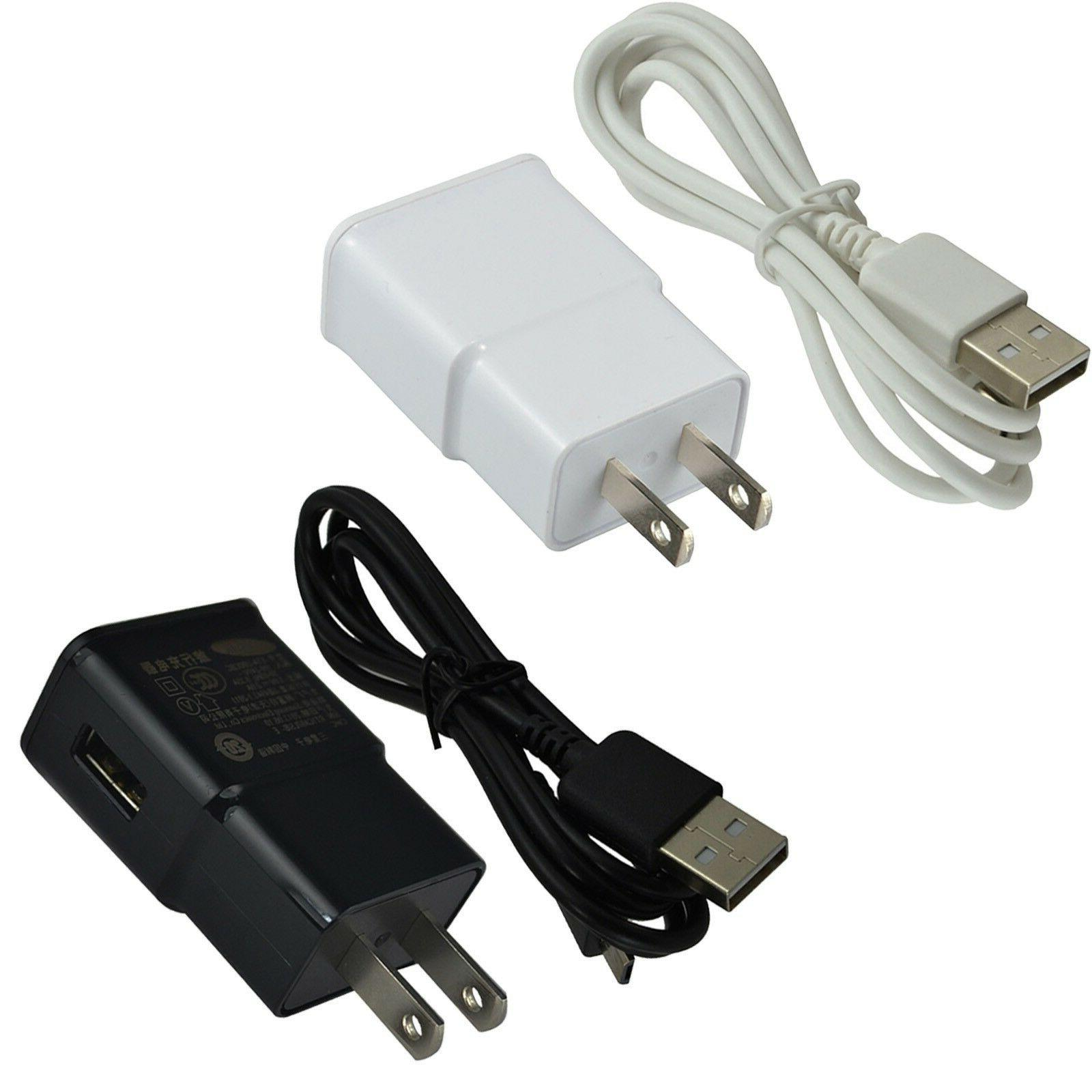 wall charger set micro usb cable