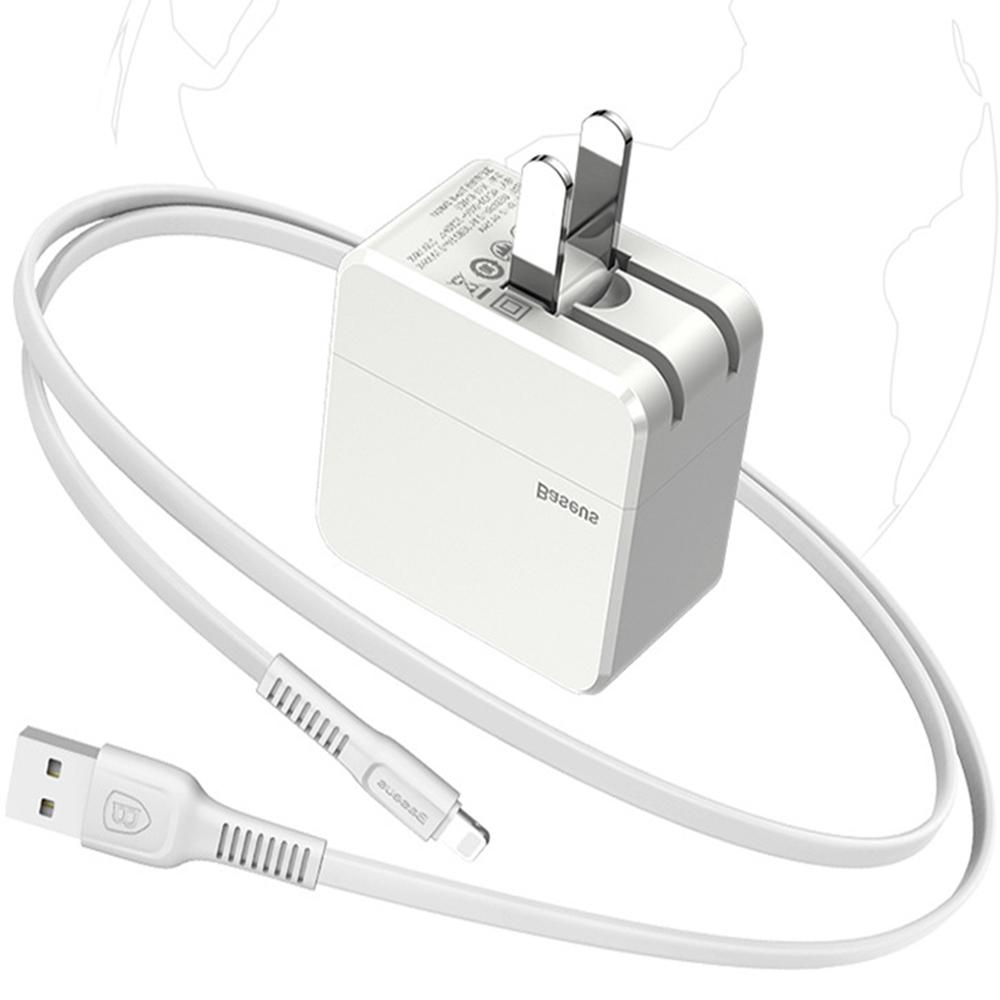 Baseus Charger+USB Charging Lightning Cable For iPhone