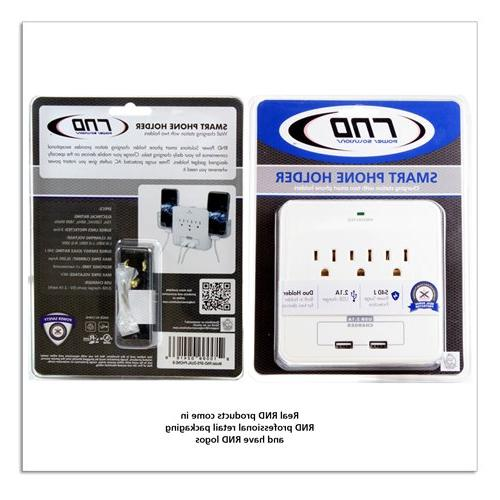 RND Power Solutions Power Station AC and USB ports Protection. Also 2 slide-out holders for Smartphone