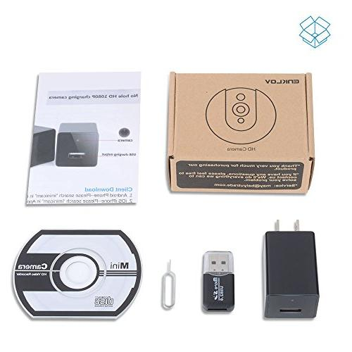 Wifi Wall Charger Camera P2P Wireless Baby IOS iPhone Remote View,USB Adapter