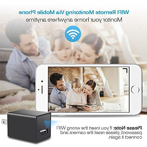 Wifi Camera - HD P2P Camcorder,Security Home Nanny Baby Cam iPhone Remote Adapter with