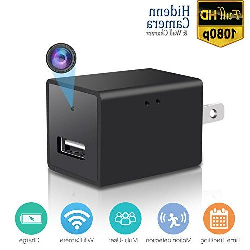 wifi wall charger mini camera 1080p p2p wireless video camco