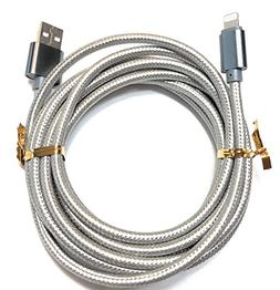 2-Pack Lightning Cable, Extra Long 10ft Silver Charger for i