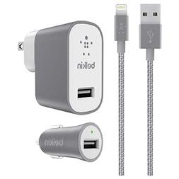 Belkin Metallic Mixit -12W 2.4Amp Fast - Home & Car Charger