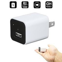 Mini Hidden Camera,HD 1080P Mini USB Wall Charger Adapter Na