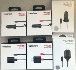 New Original Verizon Wall Charger or Car Charger for Micro U