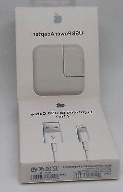 OEM Apple Wall Charger Adapter and 1M Lightning Cable for iP