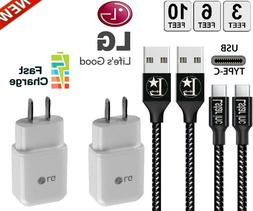 OEM Fast Charging Wall Charger For LG G5 G6 G7 V20 + Heavy D