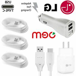 OEM Fast Charging Wall Charger Type C Cable Cord For LG G5 G