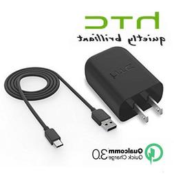 HTC QuickCharge3.0 Rapid Fast Charger+Type C Data Cable for