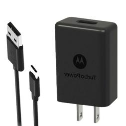 OEM Motorola TurboPower 15 Type C 3A Home Travel Wall USB Ch