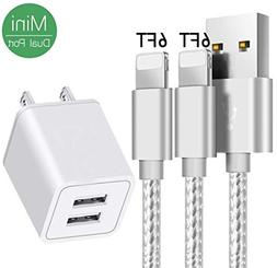 AVIOS Portable 2.4A Dual 2-Port USB Wall Charger w/ 2-Pack 6